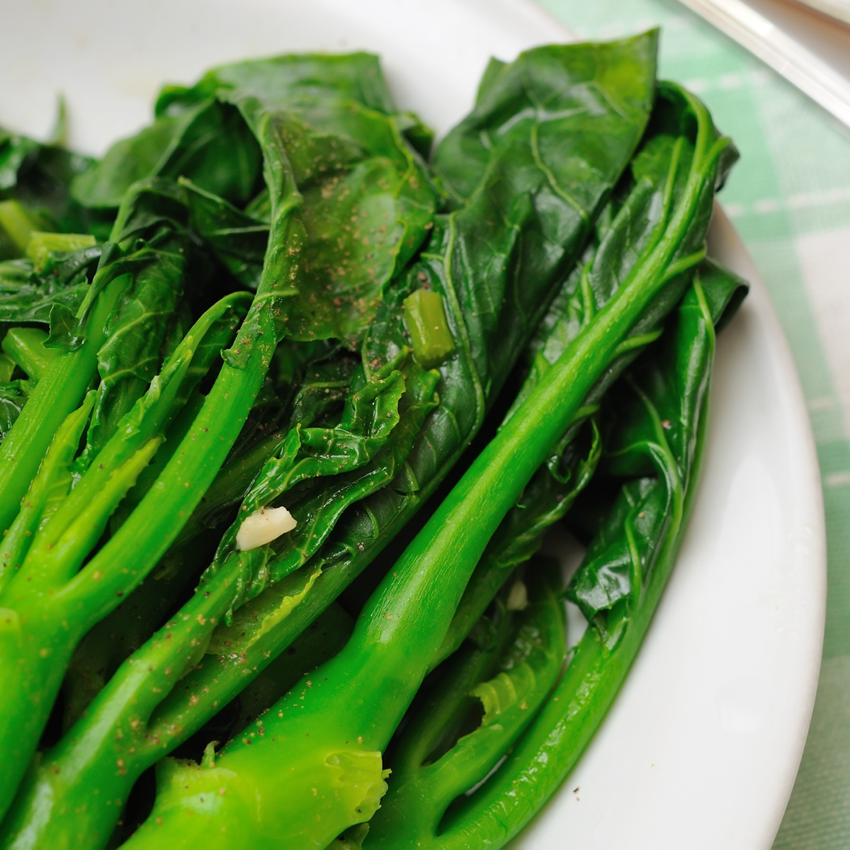 Chinese Greens Stir-Fried With Soy Sauce & Ginger