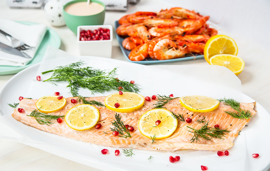 Side of Salmon with Lemon, Dill & Pomegranate