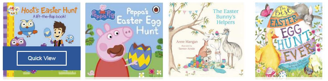 Easter treats gift ideas for kids parkmore shopping centre theres also tonnes of fantastic easter art and craft like sticker books colouring in books painting kits and easter baking kits negle Choice Image