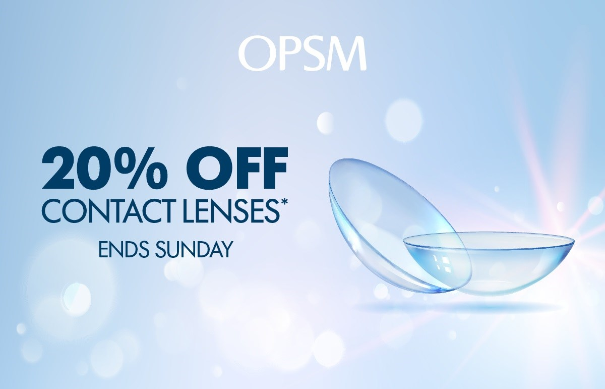 OPSM 20% Off Contact Lenses