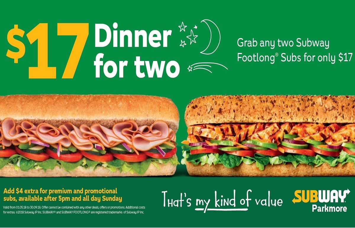 Subway Dinner Deals
