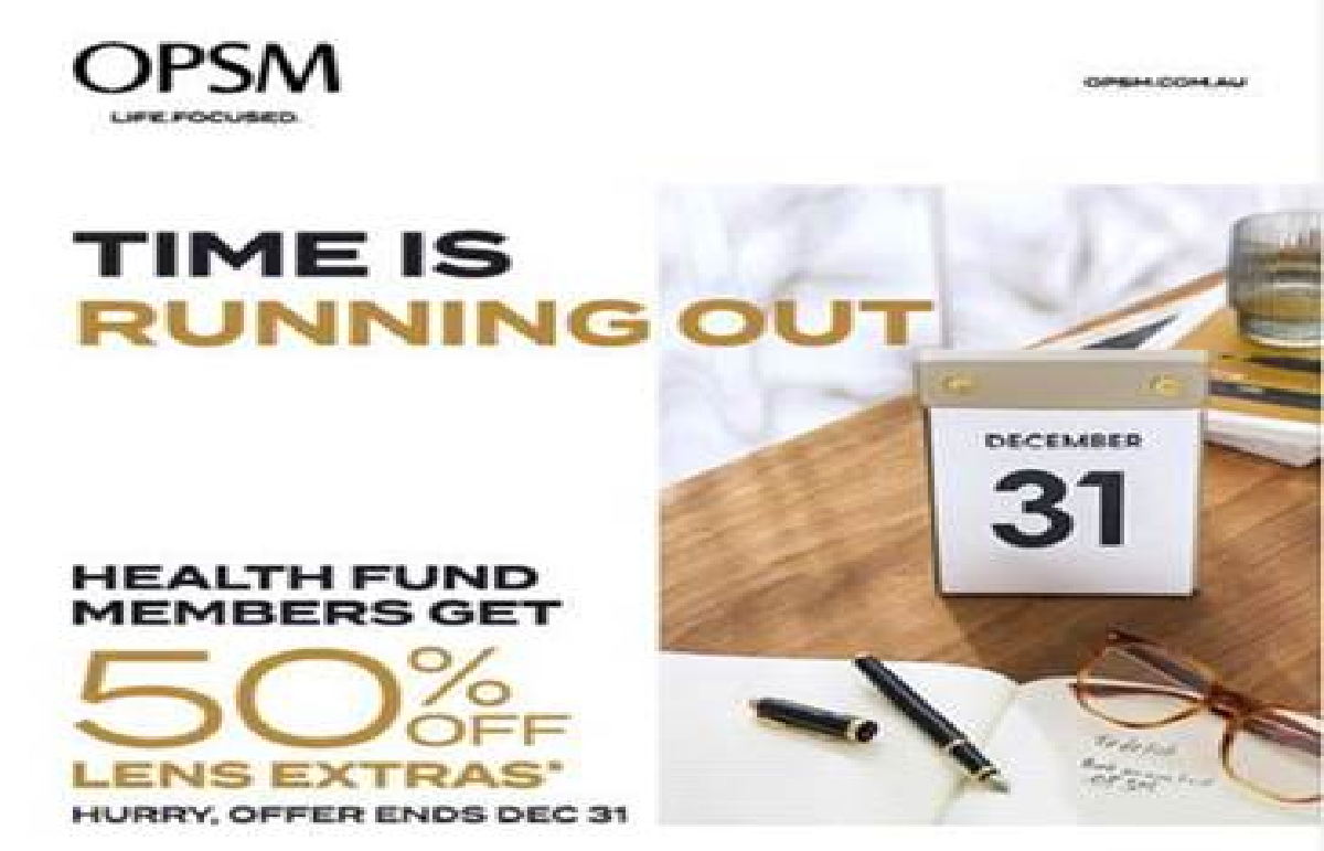 OPSM  50% Off Lens Extras for Health Fund Members