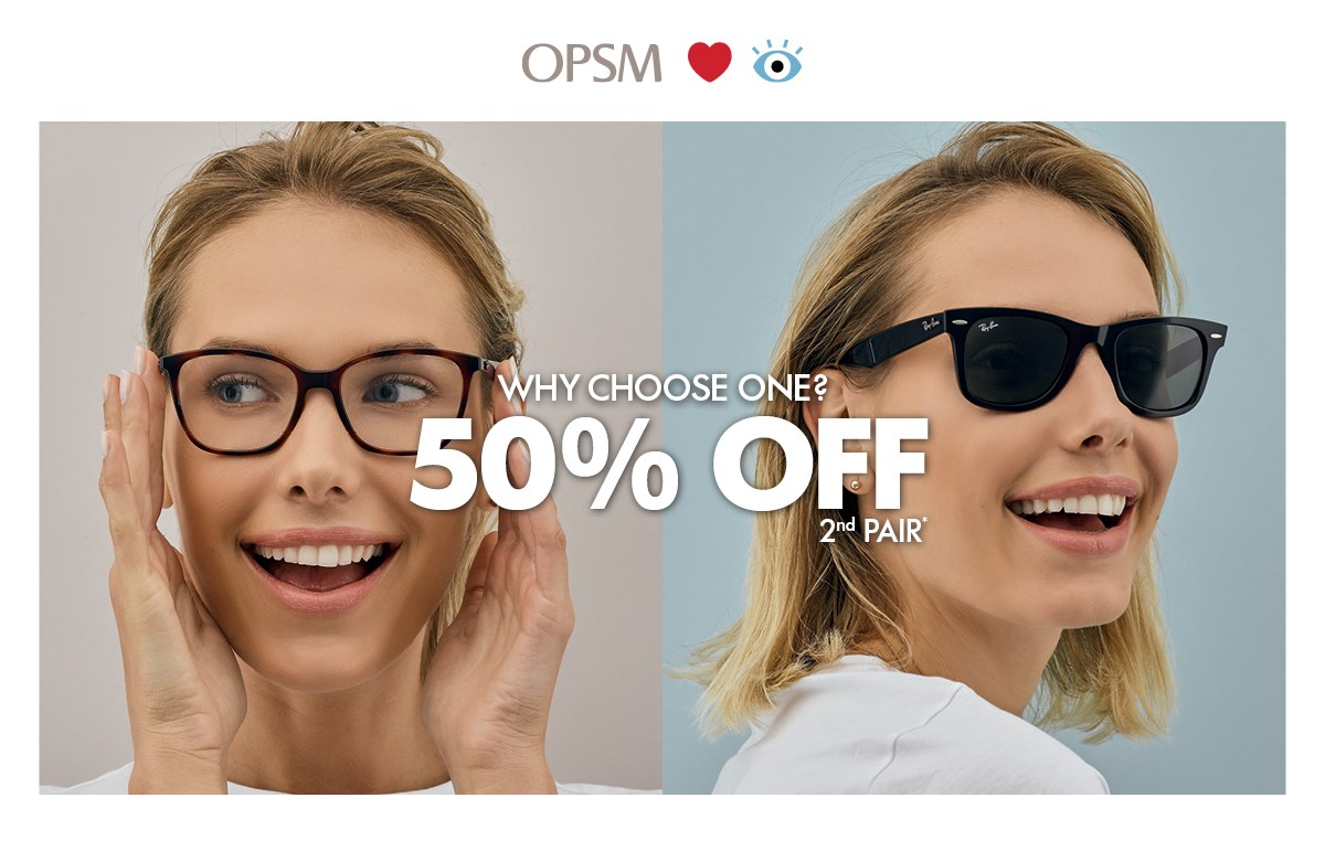 50% off your 2nd Pair