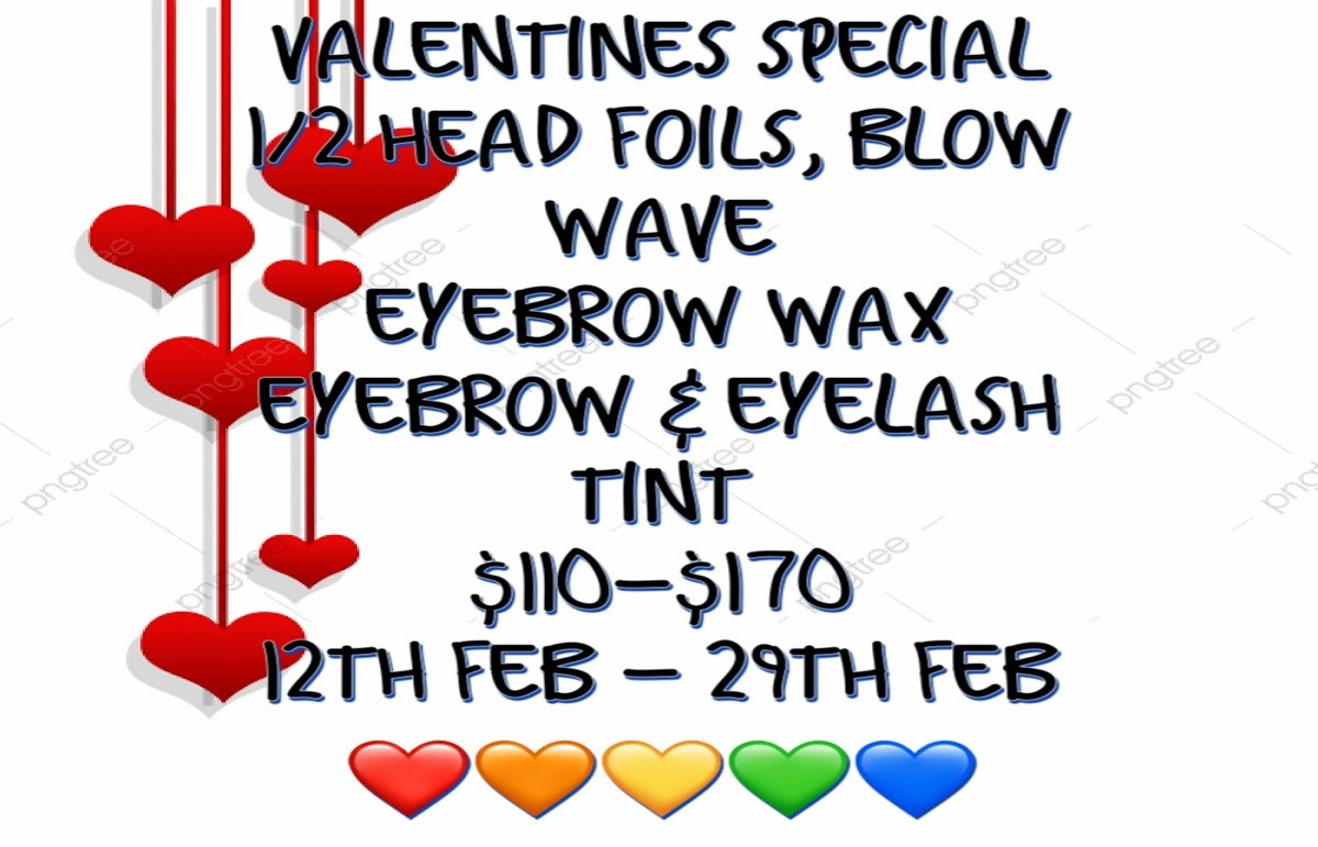 Wright Cuts and Colors Valentines day Offer