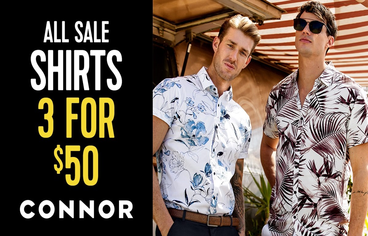 ConnorAll Sale Shirts 3 for $50