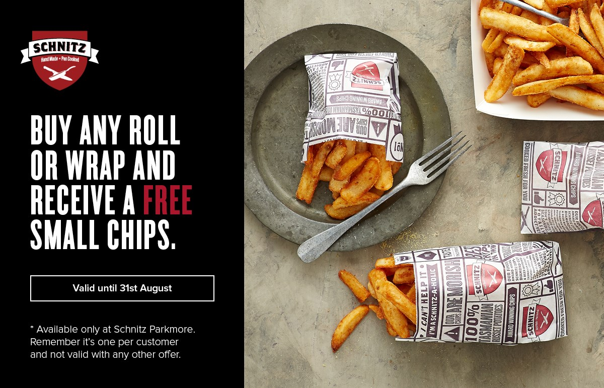 Schnitz FREE chips Monday & Tuesdays