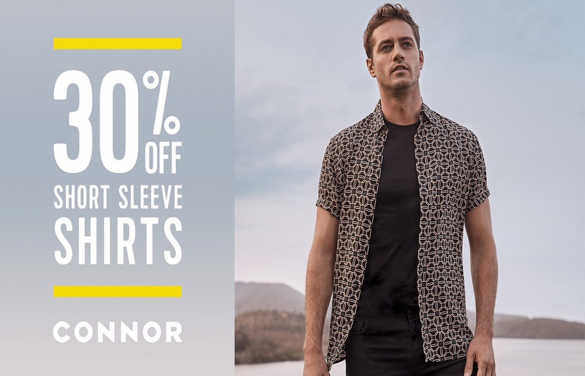 Connor  30% off Short Sleeve Shirts.