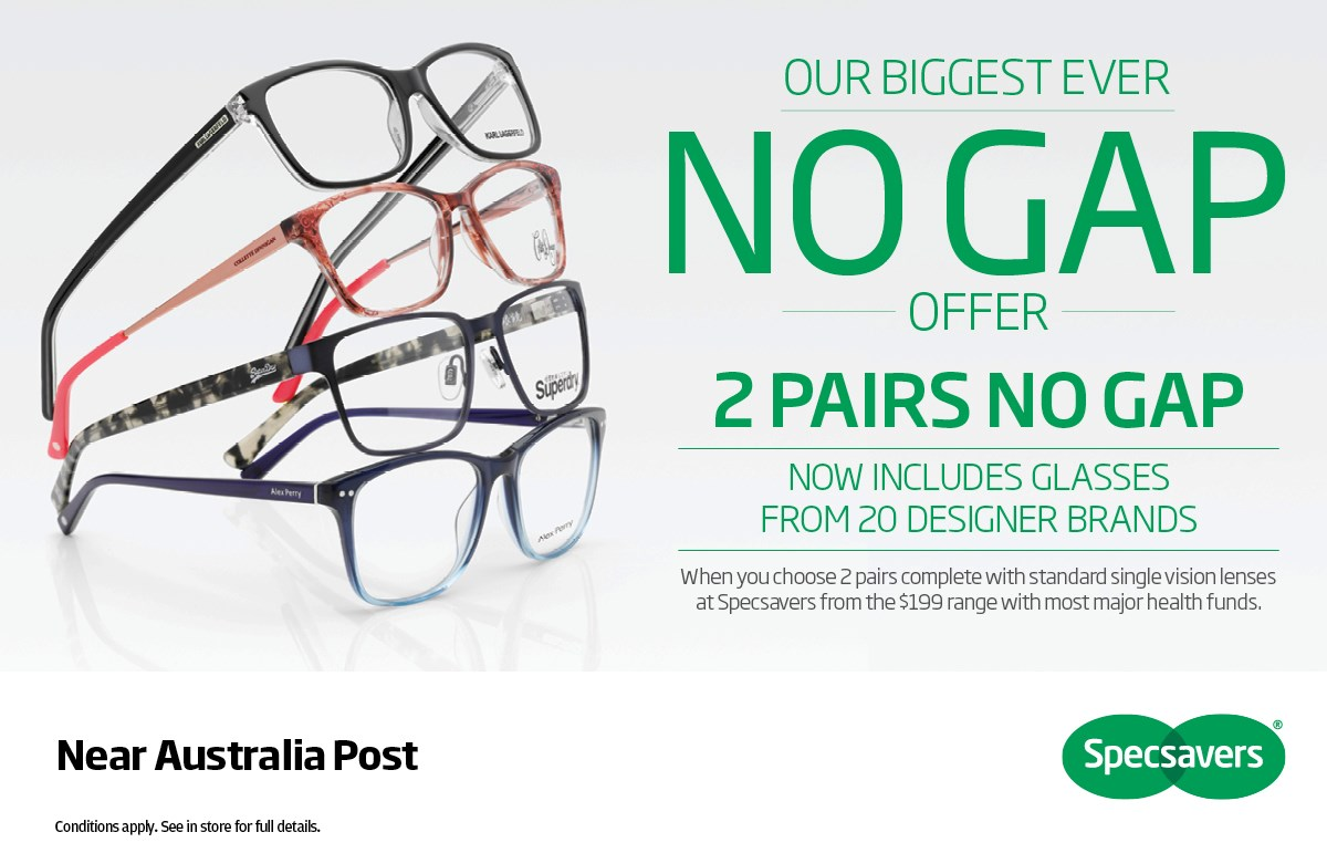 Specsavers Biggest No Gap Offer